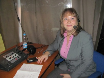 Interpreting at a pharmaceutical conference