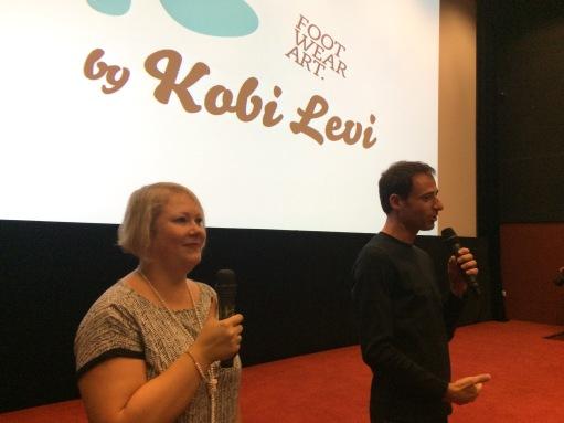 Interpreting for the celebrity shoe designer, Kobi Levi